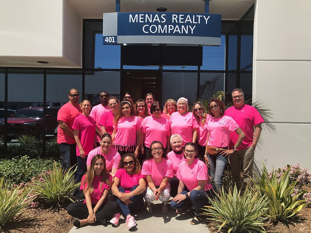 Menas Realty Company showing their support for one of their Team Members